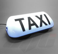 345mm WHITE LED MAGNETIC TAXI ROOF SIGN LIGHT-  TAXI METER TOPSIGN CAB LIGHT