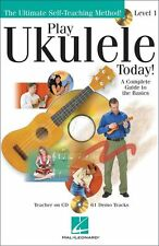 PLAY UKULELE TODAY BOOK  w CD LEARN TO PLAY TUTORIALCOMPLETE GUIDE TO UKE BASICS