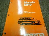 1997 mazda mpv van electrical wiring diagram service repair shop manual 97
