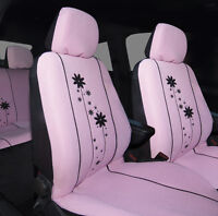 Sumex 10pcs Full Interior Padded Car Seat Covers Full Set - Urban Girl Pink #96P