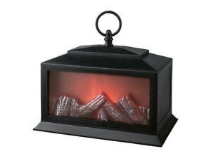 Merlinera LED Fireplace Style Lantern, creates a warming environment. Inc 3 xAA