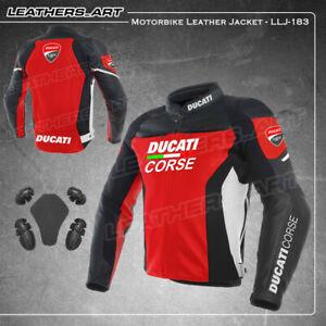 Ducati Motorcycle motorbike rider racing leather jacket LLJ-183(US 38-48)