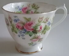 Royal Albert English Bone China MOSS ROSE Footed Scallop Edge Gold Trim Cup Only