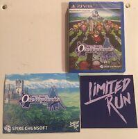 Mystery Chronicle: One Way Heroics (Playstation Vita, 2016) NEW, RARE Limited