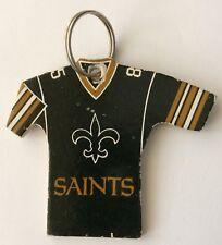 New Orleans Saints NFL Jersey Llavero Fútbol Americano Raro década de 1980 Llavero