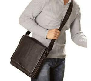 LEVENGER Bomber Jacket MESSENGER Bag MOCHA Brown EUC iPad Kindle Notepad CLEAN!