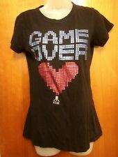 ATARI 2600 juniors large T shirt retro video game 1970s logo sexy tee