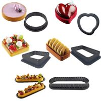 Plastic Tart Rings Perforated Mousse Cake Mold Pastry Mould Baking Tools HOT
