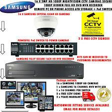SAMSUNG 16 X 2MP HD IP NETWORK CAMERAS & SECURE1080P 6TB HIDDEN NVR + POE SWITCH