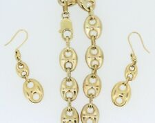 9ct Yellow Gold Gucci Link Bracelet & Earrings Set