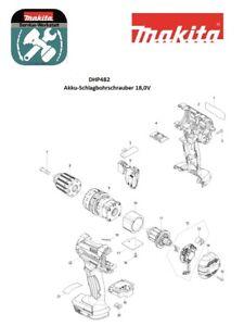 Makita Ersatzteile für Akku-Schlagbohrschrauber DHP482Z