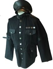 Steampunk Heavy Black Cotton Military Jacket And Military Hat XL