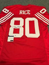 JERRY RICE AUTOGRAPHED SIGNED S.F. 49ERS JERSEY PSA  COA