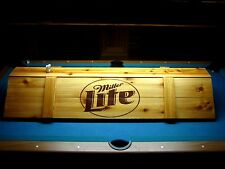 New  Miller Lite Pool Table Light & Cue Rack Combo!!