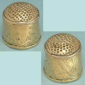 Antique 18 Kt Gold Thimble * South American * 19th Century