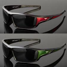 New Men Polarized Sunglasses Sport Wrap Around Black Driving Eyewear Glasses