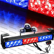 14 inch LED Red Blue Bar Security Strobe Flash Light Warn Traffic Advisor