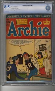 Archie Comics # 15 - CBCS 8.5 OW/White Pages - Second Highest Graded - Scarce