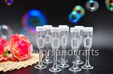 24 Wedding Bubbles Champagne Glass Bottles Wand Favors Decorations Favour Heart