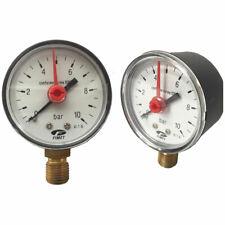 MANOMETRO PER AUTOCLAVE PRESSIONE ACQUA SCALA DA 0 - 10 BAR 1/4 M (11818)