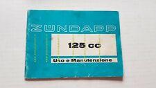 Zundapp 125 KS-GS-MC 1972 manuale uso originale ITALIANO owner's manual