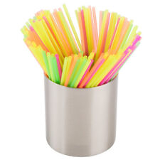 "Neon Cocktail Beverage Slim Straw Stir Sip 5"" (1000) Free Shipping US Only"