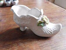 Chaussure faience Italie  décor de fleur miniature vitrine