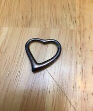 "Pendant Only Silver Heart Pendant Open Heart Pendant 1"" Silver 925"