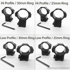 2 x Rifle Scope Mount Rings 11mm Dovetail Rail 30mm / 25mm Ring Hi / Low Profile
