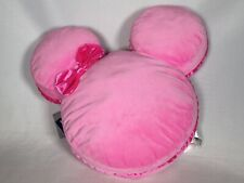 "Disney Parks Minnie Mouse 17"" Macaron Strawberry Scented Plush Pillow Treat Nwt"