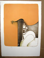 Bruno Bruni Prospettiva. Farblithographie auf Charta Goya WVZ Huber 86 handsig.