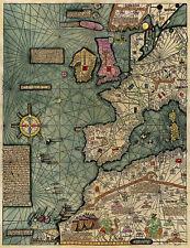 Mapamundi Cresques Catalan Atlas World Wall Map 1375 Mapamondi Poster 1st leaf
