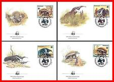 PARAGUAY 1985 WWF - ANIMALS on 4 FDC's XF