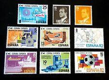 ESPAÑA 1980 2558/9 Basica Rey +2563/7 España  Exporta+2570/1 Fútbol España 82