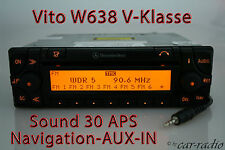 Mercedes Original Navigationssystem W638 Vito V-Klasse Sound 30 APS AUX-IN Navi