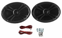 Pair Rockville RMSTS69B 6x9 1000w Waterproof Marine Boat Speakers 2-Way Black