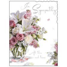 Sympathy Condolence Card ~ Luxury Card ~ Nice Design ~ Made In UK JJ