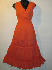 Sundress Dress Fit XL 1X Plus Orange Crochet Lace EMPIRE Waist Tiered NWT 401