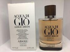 Acqua Di Gio Absolu By Giorgio Armani EDP for Men 2.5 oz - 75 ml *NEW TST BOX*