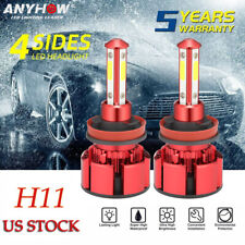 4Side H11 H9 H8 LED Headlight Bulbs Combo High/Low Beam Fog Light Conversion Kit