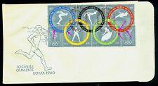 1960 Rome Olympics,Boxing,Canoeing,High jump,Gymnastics,Romania,1853,FDC,Error/2