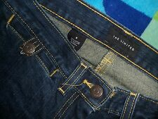 The LIMITED wms sz 6 Low Rise Dark Blue Stretch FLARE JEANS 31x32 Super Cute EUC