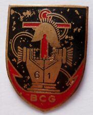 Insigne Indochine 61° BCG BATAILLON COLONIAL du GENIE tôle peinte E.O. ORIGINAL