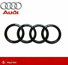 Audi Gloss Black Rear Back Boot Badge Rings A1 A3 A4 A5 A6 RS3 RS4 S3 S4  193mm