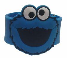 "Sesame Street COOKIE MONSTER 8"" Long Bracelet WRISTBAND w/Snaps"