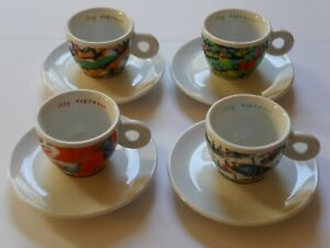 Illy Espresso - 4x 1996 Nam June Paik cup and saucer - Art Collection?