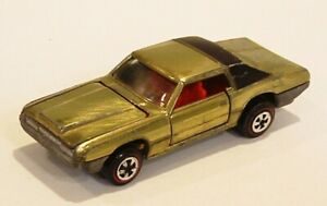 HOT WHEELS RED LINE JOHNNY LIGHTNING THUNDERBIRD LIME w RED INT VERY GOOD