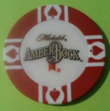 MICHELOB AMBER BOCK BEER / WORLD POKER TOUR RED CHIP GREAT FOR ANY COLLECTION!