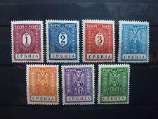 DR, Serbia, Serbien, besetzung, occupation, 1942, Mi.9-15, ** MNH (postfrisch)