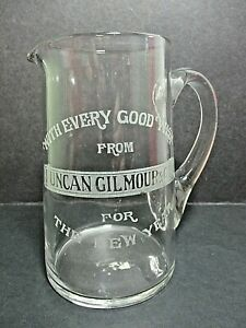 DUNCAN GILMOUR & Co Ltd , SHEFFIELD - NEW YEARB WISHES GLASS WATER JUG